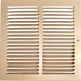 12''w X 6''h Steel Return Air Grilles - Sidewall and Cieling - HVAC DUCT COVER - Brown [Outer Dimensions: 13.75''w X 7.75''h]