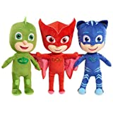 KIDS PLUSH PJ Masks Catboy Owlette Gekko Plush Doll Stuffed Animal Toy Gift SET Kids 12