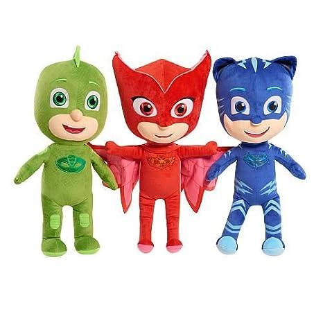 KIDS PLUSH PJ Masks Catboy Owlette Gekko Plush Doll Stuffed Animal Toy Gift SET Kids 12&quot