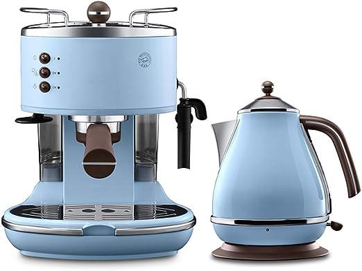 FYJK Retro Hervidor eléctrico, Acero Inoxidable, Retro Espresso Cafetera, Máquina de café Capuchino Vintage Series, Azul: Amazon.es