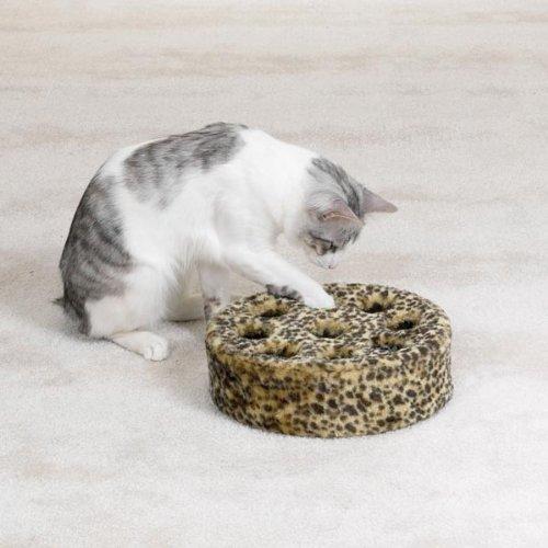 Zanies Leopard Den Kitty Teaser Toy, 10-1/2-Inch, My Pet Supplies