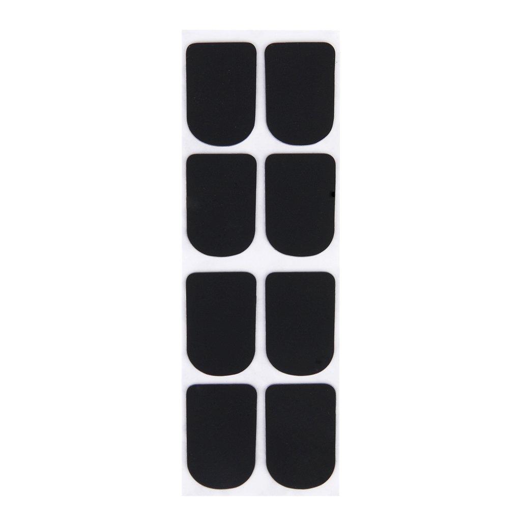 8pcs Clarinet/Soprano Sax Saxophone Mouthpiece Patches Pads Cushions 0.3mm Black Andoer