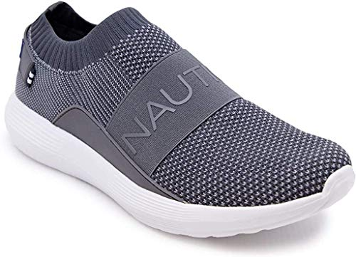 Nautica Men's Casual Fashion Sneakers Walking Shoes Lightweight Joggers (Slip-on/Adjustable Straps)