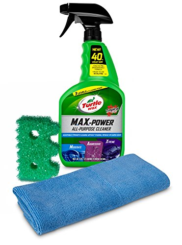 Turtle Wax 50737 M.A.X.-Power All-Purpose Cleaner with Scrub Daddy Cleaning Sponge & Microfiber Towel