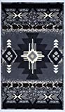 Southwest Native American Indian Door Mat Area Rug Design in Western Style Grey 318 Grey 2'X3'4