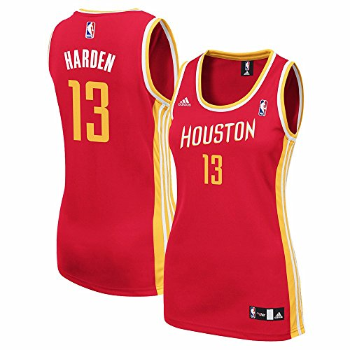 James Harden Houston Rockets NBA Adidas Women's Red Replica Jersey – DiZiSports Store