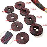 5M 2/4/6/8/10/12/15/20/25mm Insulation Braided Sleeve Tight PET Expandable Cable Sleeves Wire Gland Cables 9 Sizes