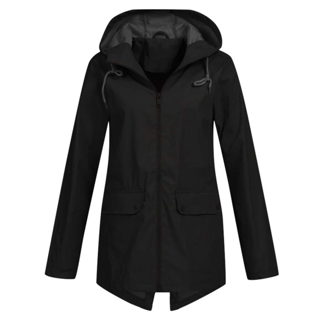 Pandaie Women Softshell Jacket Sport Outdoor Rain Jacket Hooded Windbreaker Waterproof Raincoat Plus Size Outwear by Pandaie