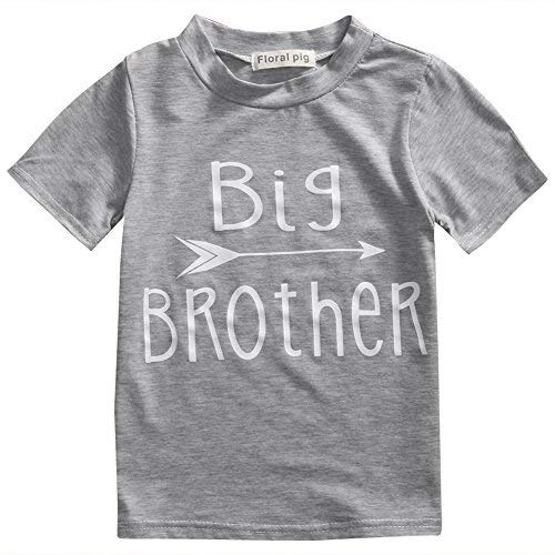 Toddler Boys Girls Sibling Shirts for Big Sister and Brother, Hipster Design (2-3T, Big Brother) (Biggest Sister Big Sister Little Brother Shirts)