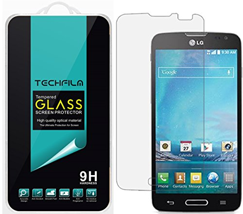 TechFilm®- LG Optimus L90 [Tempered Glass] Screen Protector, Premium Ballistic Glass Round Edge [0.3mm] Ultra-Clear Anti-Scratch, Anti-Fingerprint, Bubble Free, Maximum Screen Protection from Bumps, Drops, Scrapes, and Marks [1 Pack]- Retail Packaging