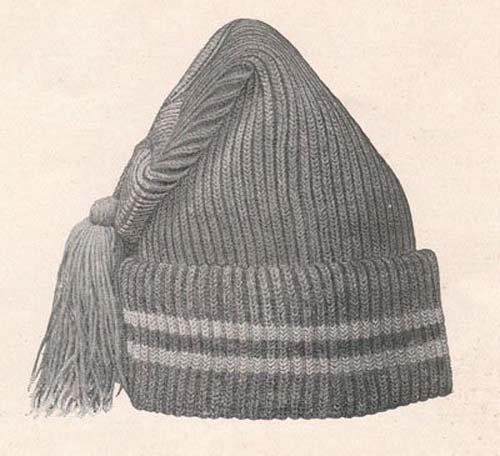 Knit Toboggan Stocking Cap Hat Vintage Knitting Pattern EBook Download (Needlecrafts)
