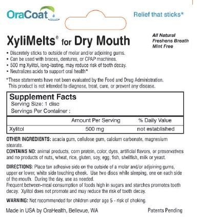 XyliMelts Discs for Dry Mouth, Mild Mint 80 ea (2 PACK)
