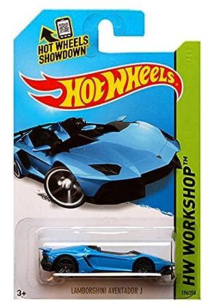 Nice Hot Wheels   HW Workshop   Lamborghini Aventador J (Blue)