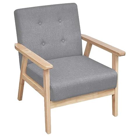 Xinglieu sillón de Tela Color Gris Claro sillón de Relax ...