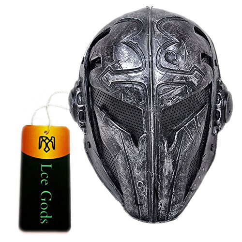 Black Wire Mesh Full Face Protection Paintball Mask Templar]()
