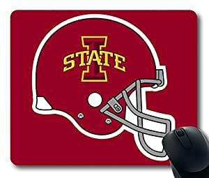 Custom Gaming Mouse Pad with Iowa State Cyclones Helmet New Non-Slip Neoprene Rubber Standard Size 9 Inch(220mm) X 7 Inch(180mm) X 1/8(3mm) Desktop Mousepad Laptop Mousepads Comfortable Computer Mouse Mat