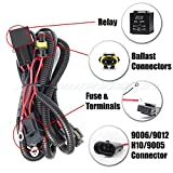 99 corolla battery - XtremeVision 9006 / 9012 / H10 / 9005 HID Battery Wiring Relay Harness 12V 40 AMP 35W/55W for HID Conversion Kit