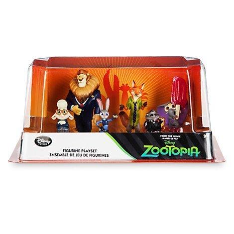 Disney Zootopia Exclusive 6 Figure Character Play Set - Includes Judy Hopps, Nick Wilde, Mayor Lionheart, Bellwether, Mr. Big Baby elephant with Ice Pop