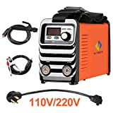 HITBOX Stick Welder 200 140A Welder MMA IGBT DC Inverter Welding Machine with Strap 110V 220V Dual Voltage with Accessaries Earth Clamp Electrode Holder Adapter Cord Portable Ready to Use