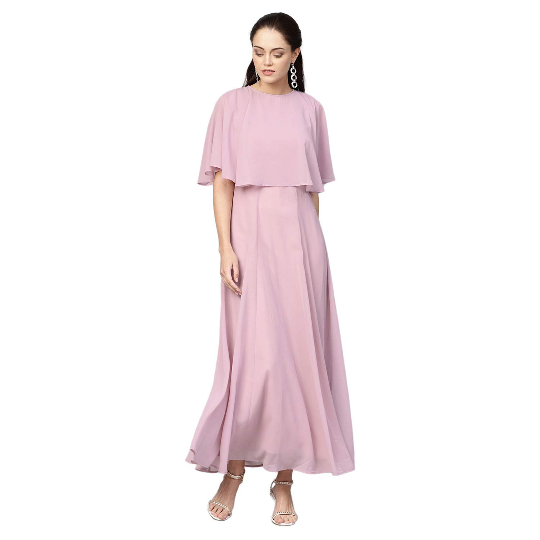 FEMELLA Women's Lilac Cape Overlay Maxi Dress