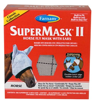 Farnam Home & Garden 100504652 SuperMask II Horse Fly Mask, With Ears - Quantity 12