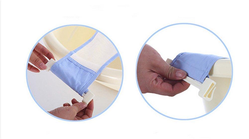 Affe Baby Kids neugeboren Badewanne Sicherheitsbadesitz Blau