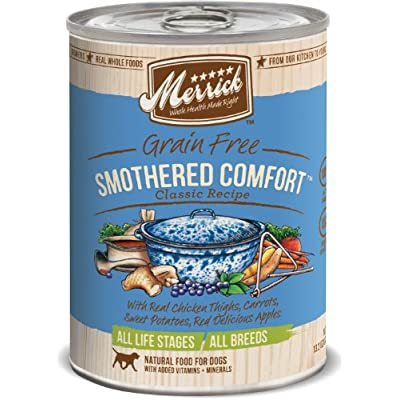 Merrick Classic Grain Free Canned Dog Food, 13,2 Oz, 12 Count Smothered Comfort