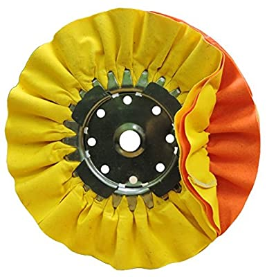 "10"" X 3"" 5/8 Arbor Hole Yellow & Orange Combo Mill Treated Airway Buffing Wheel"