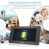 NAVISKAUTO-101-Dual-Screen-DVD-Player-Ultra-thin-TFT-Screen-Car-Backseat-Headrest-Portable-DVD-Player-Black