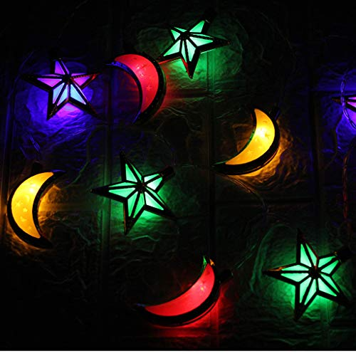 (Ramadan Decorative Crescent Moon Decor Light,Ramadan Original Moon String Lights for Outdoor,Home Festival)