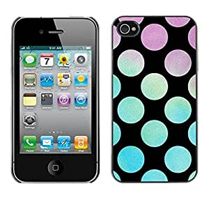 Soft Silicone Rubber Case Hard Cover Protective Accessory Compatible with Apple iPhone? 4 & 4S - disco party lounge black