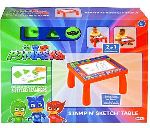 PJ Masks Superhero Team Stamp N' Sketch Play Table Magnetic
