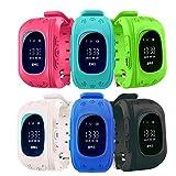 Mandorra Q50 GPS Kids Watches Baby Smart Watch for Children SOS Call Location Finder Locator Tracker Anti Lost Monitor Smartwatch (dark blue)