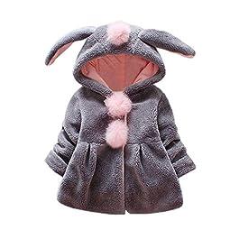 Abrigo para bebé con capucha de orejas de conejo