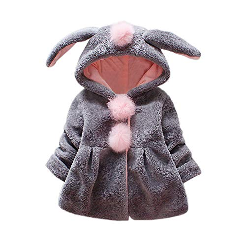 Coats For Baby Girls Phat (VEKDONE Baby Toddler Kids Fall Winter Coat Jacket Outerwear Ears Hood Hoodie)