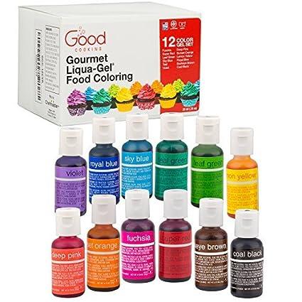 Buy Food Coloring Liqua-Gel - 12 Color Variety Kit in .75 fl ...