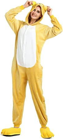 TALLA XL(173-180cm). Invierno Cálido Franela Onesie Pijama Adulto Unisex una Pieza, Oso Pajama, Azul, XL(173-180cm)