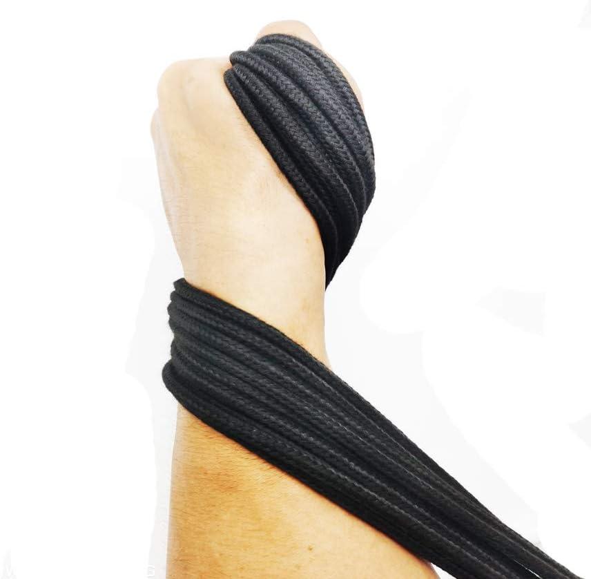 Cuerda de algod/ón suave VI AI de 32 pies 10 m 3 piezas multifunci/ón cuerda gruesa de algod/ón cuerda de algod/ón multiusos para manualidades 3 color negro natural duradera cuerda larga de 8 mm