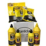 Farecla G3 Starter Kit Includes G3 Premium Abrasive Compound, G3 Fine Finishing Compound G3 Glaze Gloss Enhancer, 500 ml G3 Wax, 8'' Finishing Pad, 8'' Foam Pad, Flexible Back Plate, Indasa USA Bag