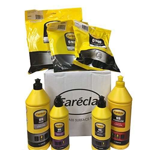 Farecla G3 Starter Kit Includes G3 Premium Abrasive Compound, G3 Fine Finishing Compound G3 Glaze Gloss Enhancer, 500 ml G3 Wax, 8
