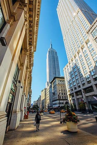 Fifth Avenue and Empire State Building Manhattan Photo Art Print Poster 12x18 - Empire State Building Photographs