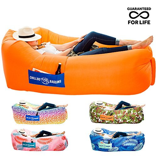 Chillbo Baggins 2.0 Inflatable Lounger Hammock Air Sofa and Pool Float Ships Fast! Ideal as Air Lounger for Indoor or Outdoor Hangout or Inflatable Lounge for Camping Picnics & Music Festivals