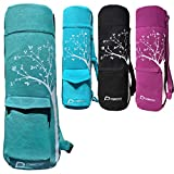 Deco Athletic Green Yoga Mat Bag. Choose Your Color - fits up to 25in mat and Blanket, 2 Large Pockets, Room for Water Bottle & Towel. One Tree Planted for Every Bag Purchased!