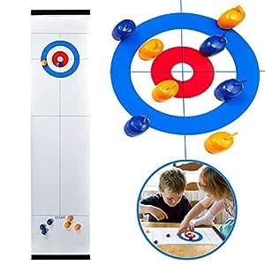 Mesa plegable mini pelota de curling juego de mesa de curling ...
