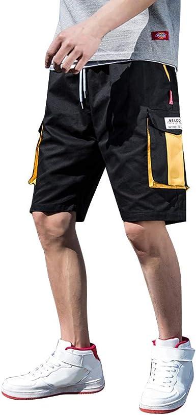LUNULE Pantalones Cortos Hombre Verano Bermudas Hombre Pantalon ...