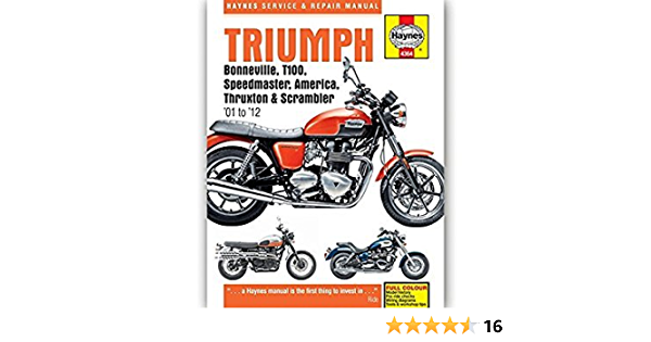 Haynes Service Repair Manual for Triumph Speedmaster