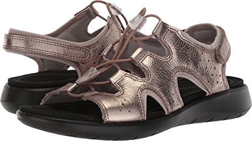 ECCO Women's Women's Soft 5 Toggle Sandal, Warm Grey/Metallic, 36 M EU (5-5.5 US)