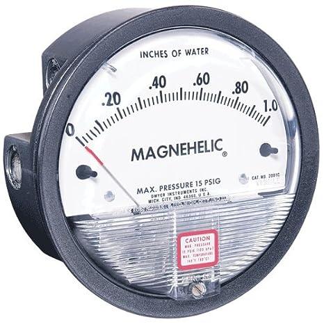 Dwyer 2000de la serie Magnehelic diferencial Manómetro de presión, rango de 0,05–0-0.20