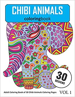Chibi Animals Coloring Book: 30 Coloring Pages of Chibi ...