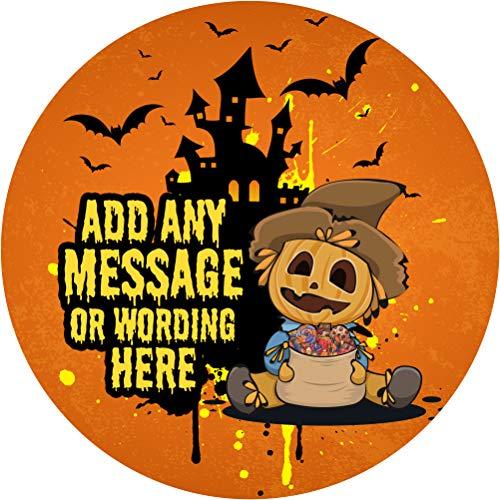 Halloween Pumpkin Scarecrow Sticker Labels (24 Stickers, 1.8''